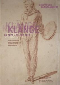 Plakat, 2015, Ausstellung Klänge, Kemptener Kunstkabinett
