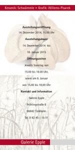 Ausstellung Grafik: Willems-Pisarek / Keramik: Schwämle, Galerie Epple, Türkheim