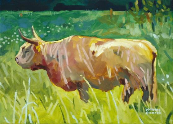 Braun, 33 x 45 cm, Öl mit Wachs