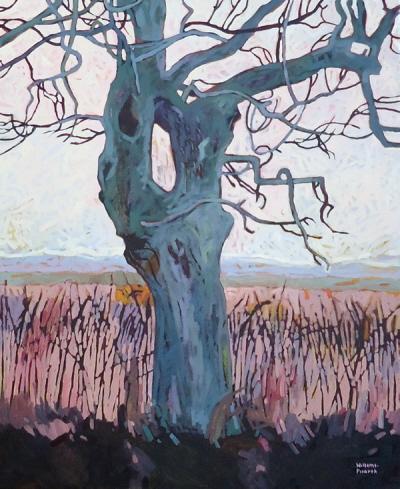 Morsch, 110 x 90 cm, Öl mit Wachs